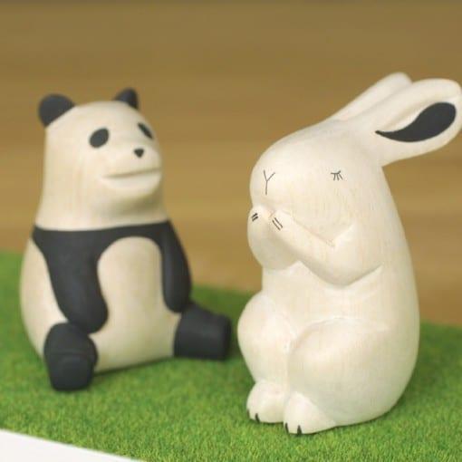 ぽれぽれ動物シリーズ パンダ・ウサギ