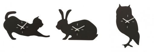 アニマル黒板時計