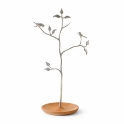 木と小鳥のアクセサリースタンド ケヤキ <br />by SHIROKANE(シロカネ)