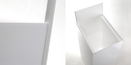 モノリスのようなゴミ箱 AIR FRAME(エアフレーム) IDIOM DUST BOX