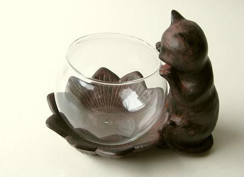 子猫グラスベース