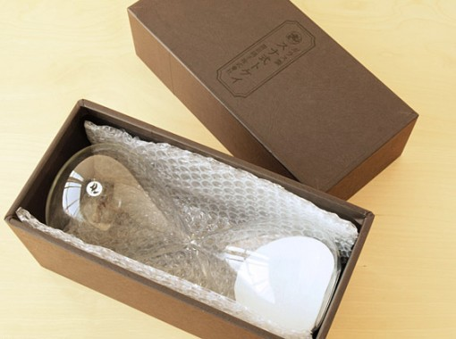 廣田硝子 ガラス製 スナ式トケイ