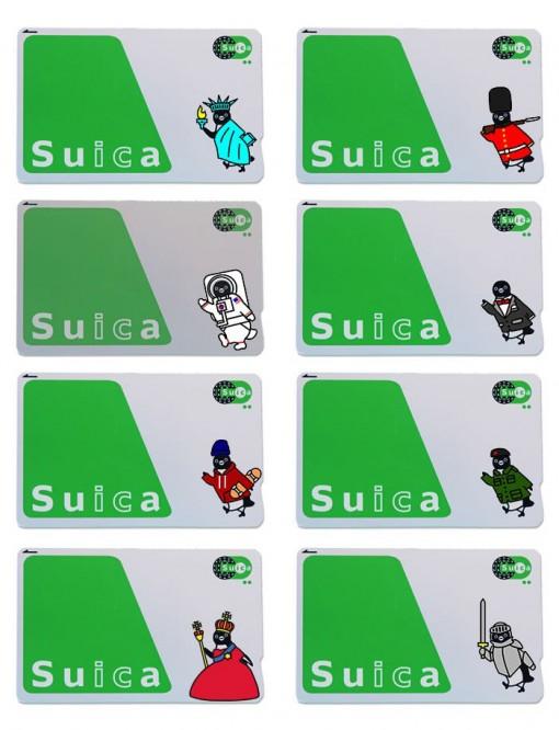 Suicaペンギン着せ替えステッカー Suca_icCARD_WEAR_wear