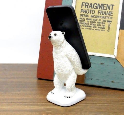 白クマ スマートフォンスタンド 『polar bear』
