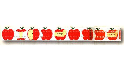 ジッパー付テープzitte リンゴ