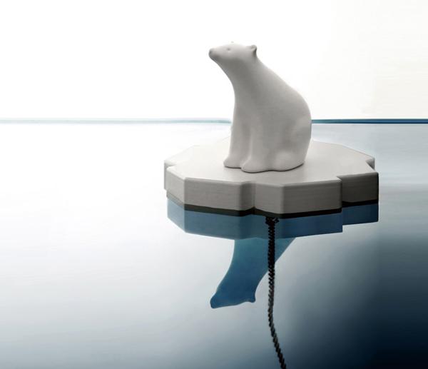 シロクマ風呂栓<br />PROPAGANDA DRAIN STOPPER POLAR BEAR<br /> (プロパガンダ ドレインストッパー シロクマ)
