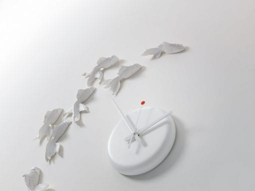 Goldfish Clock (ゴールドフィッシュクロック) by haoshi Design