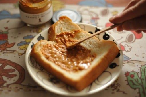 HAPPY NUTS DAY ピーナッツバター トーストと相性抜群