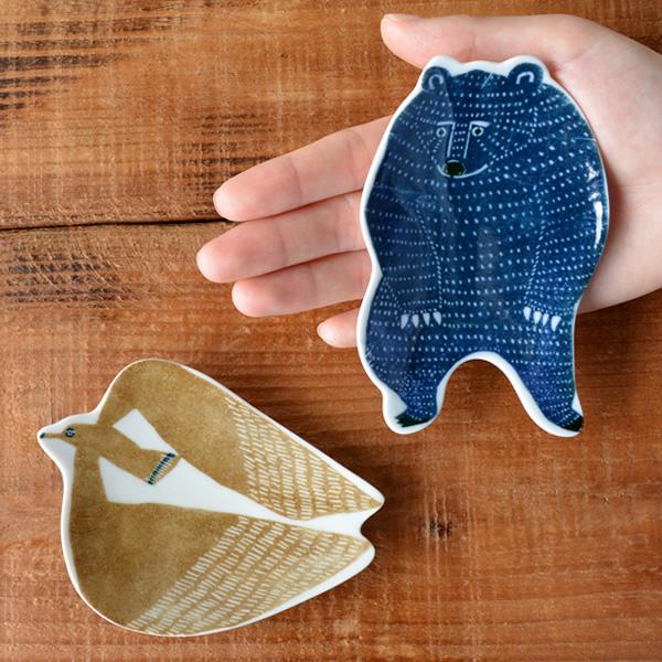 倉敷意匠 kata kata 印判手豆皿 アホウドリとクマ
