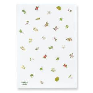 六花亭 包装紙の花柄クリアファイル