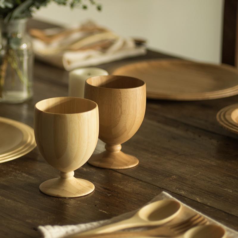 木製 竹製ゴブレット
