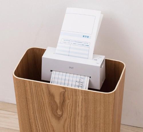 ゴミ箱に取り付けられるコンパクトシュレッダー