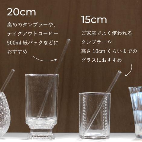 廣田硝子ガラスストローサイズ別説明画像