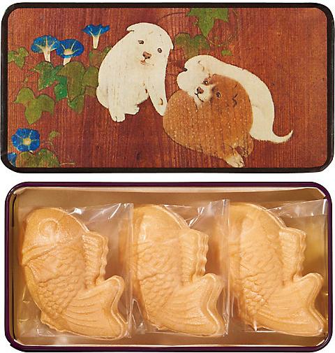 東京国立博物館 限定ギフト〈久右衛門〉朝顔狗子図杉戸(あさがおくしずすぎと) 鯛最中のお吸物