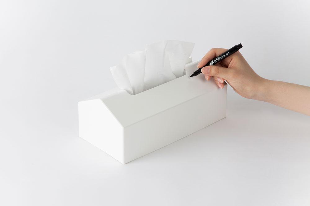 MEMORU tissue caseはメモができるティッシュケース