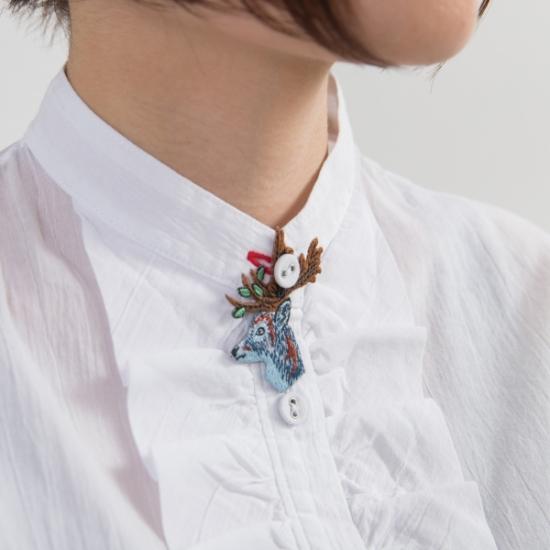 刺繍アクセサリー鹿 Gu Siao Yin