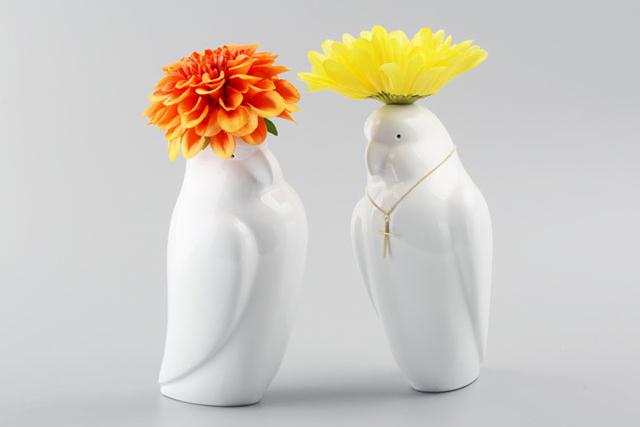 カタコト オウムの花瓶