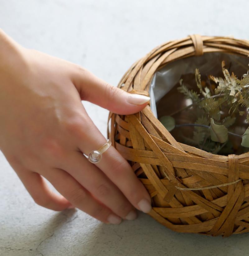 ハリオ ガラスの指輪