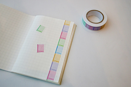 キャンパスノートのマスキングテープ