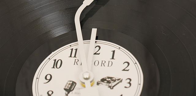 レコード風クロック