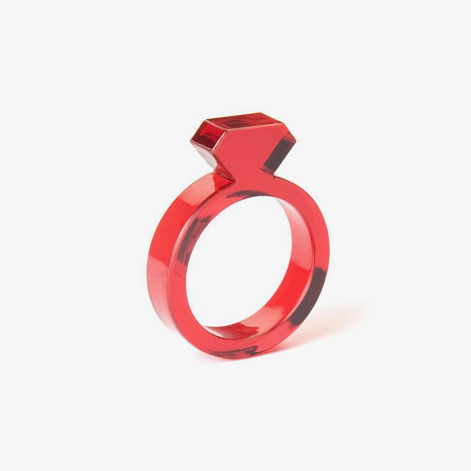Acrylic Diamond Ring アクリルダイアモンドリング