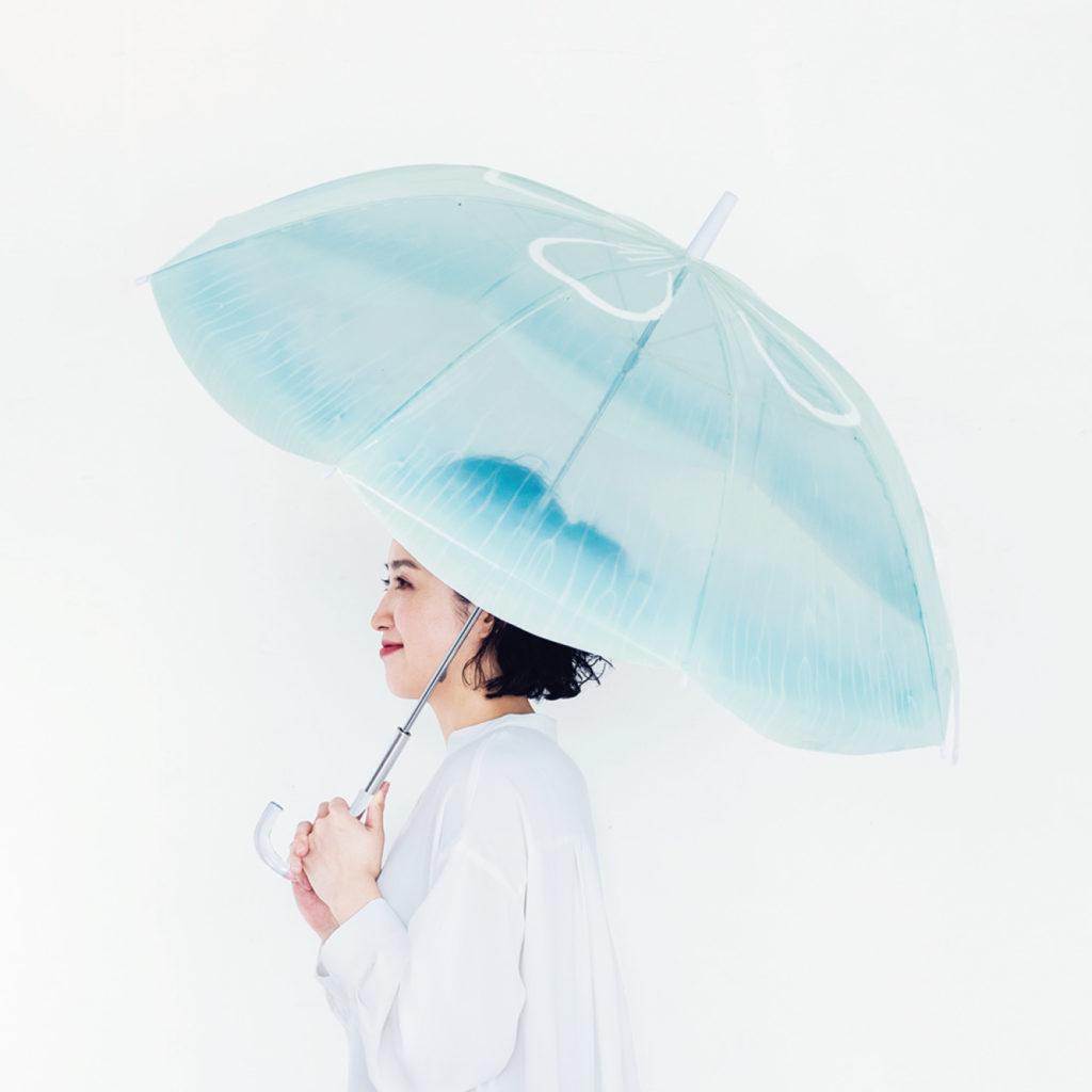 フェリシモ YOU+MORE! 雨空を泳ぐミズクラゲの傘