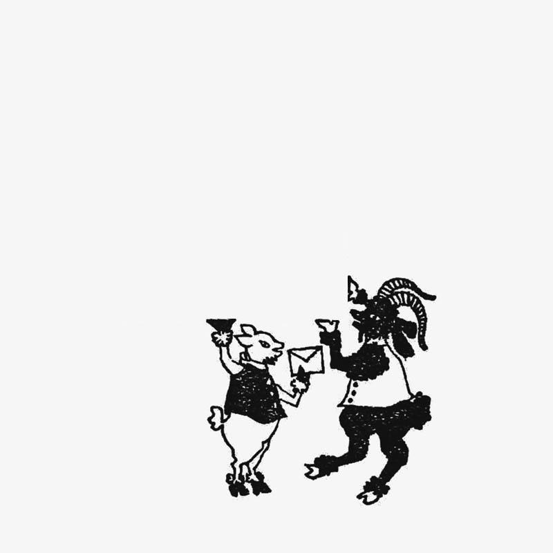 切手のこびと WonderLand 白ヤギのエマと黒ヤギのヤン