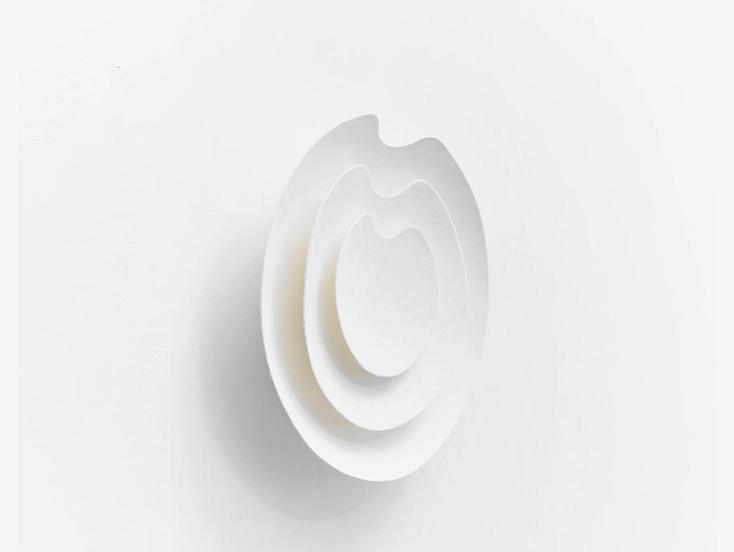 fumon 因州和紙の時計 凸型