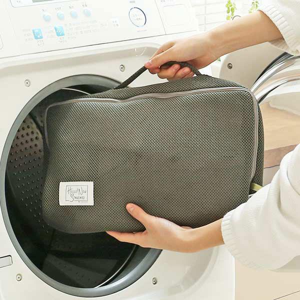 LOHACO 中身が見えにくいカーキ色の洗濯ネット