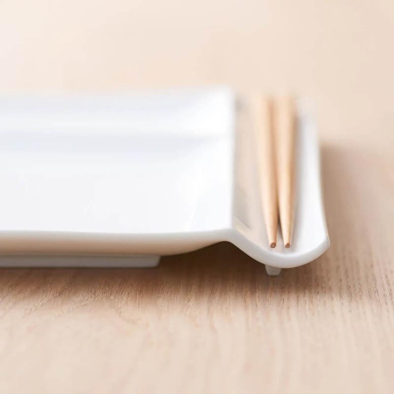 お箸が置けるパレット皿