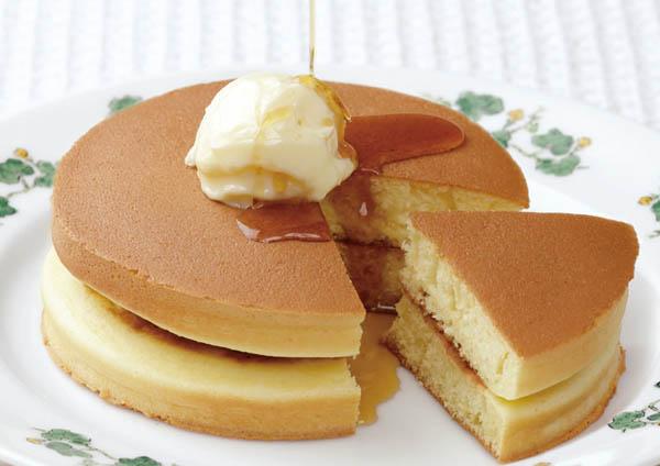 六花亭 喫茶室のホットケーキ