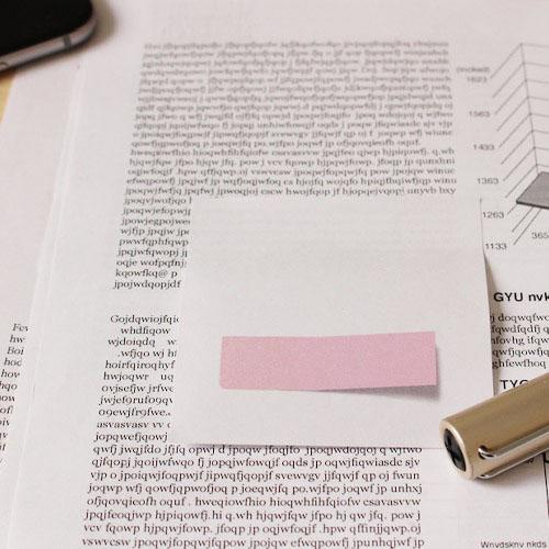 付箋の上に付箋がついているような付箋