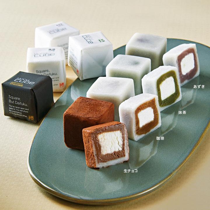 四角い大福 宝月堂 MOCHI cube
