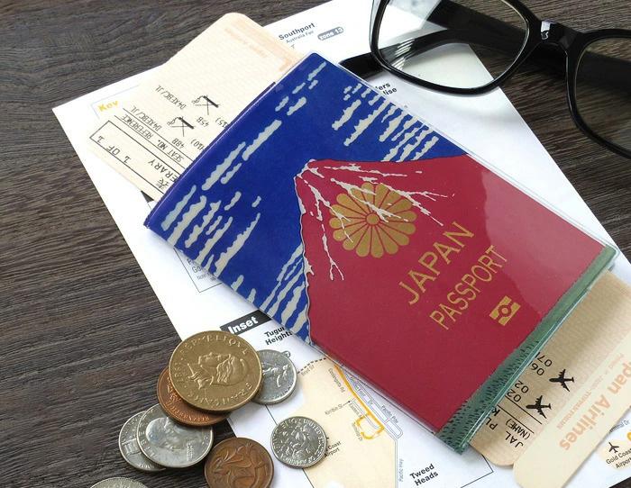 パスポートカバー 赤富士