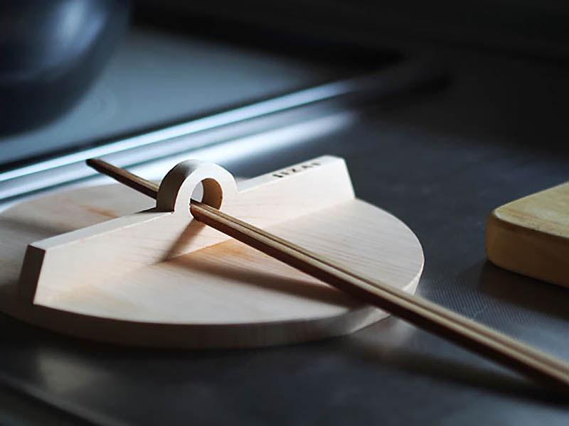 松田美智子の自在道具 自在鍋木蓋