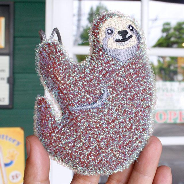 KIKKERLAND(キッカーランド)Sloth Scrub Sponges(ナマケモノ スクラブスポンジ)